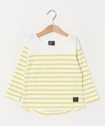 petit main/オーガニックコットン パネルボーダーTシャツ/502975873