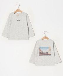 petit main/ロゴ刺しゅうバックフォトTシャツ/502975874