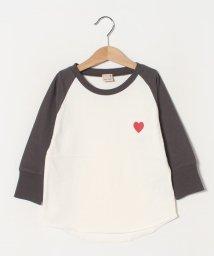 petit main/ハート刺しゅうラグランTシャツ/502975879