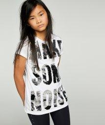 SISLEY YOUNG/スパンコールメッセージTシャツ・カットソー/502976531