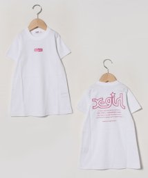 X-girl Stages/ボックスロゴプリントTシャツワンピース/502978710