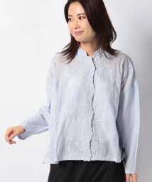 MARcourt/【mizuiro ind】stand collar lace wide shirt/502984679