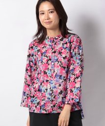 MARcourt/【mizuiro ind】flower print henry neck shirt/502984680