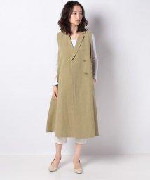 MARcourt/【mizuiro ind】cotton linen slub tailored jilet OP/502984687