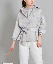 tocco closet luxe/パール釦CPOシャツジャケット/502991726