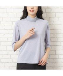 MISSEL/プリーツカラーTシャツ【手洗いOK】/502994839