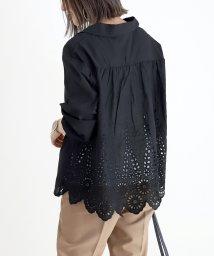 FUNNY COMPANY+/綿ローン裾レーススキッパーシャツ/502995372
