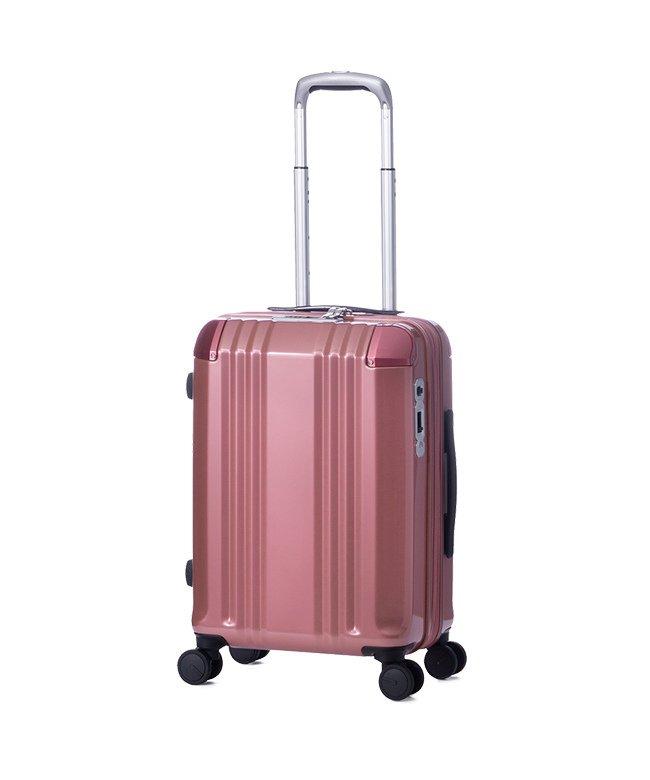 カバンのセレクション アジアラゲージ デカかる スーツケース 機内持ち込み Sサイズ 34L/40L 拡張 軽量 ストッパー付き ali−008−18w ユニセックス ピンクゴールド フリー 【Bag & Luggage SELECTION】