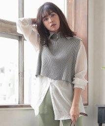 KOBE LETTUCE/【2点SET】ハイネックニット×シャツ [C4488]/502995797