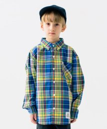 こどもビームス/SMOOTHY / ボタンダウン ビックシルエット チェックシャツ 20(100~160cm)/502996098