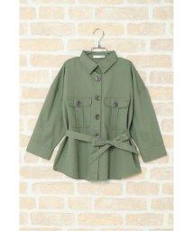 ikka kids/【キッズ】ベルト付きビッグシャツジャケット(120〜160cm)/502953499