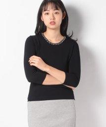 JOCONDE ROYAL/ARINA ビーズ刺繍 ニットプルオーバー/502988259