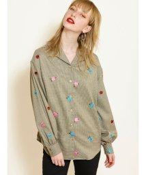 jouetie/オープンカラーローズシャツ/502990957