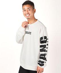 LUXSTYLE/刺繍ロゴトレーナー/トレーナー メンズ スウェット ビッグシルエット ロゴ ガールズフォト/502998972