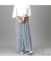 emma/大人のレトロ花柄プリーツワイドパンツ/502999000