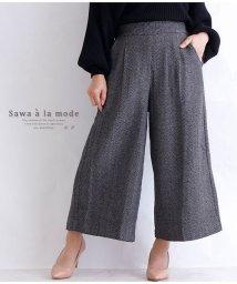 Sawa a la mode/ヘリンボーンワイドパンツ/502999020