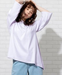 coen/【WEB限定】アシンメトリーチュニックTシャツ/502999040
