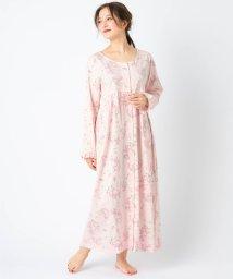 fran de lingerie/cotton-me 綿100%シリーズ 花柄前開きワンピース/502999401