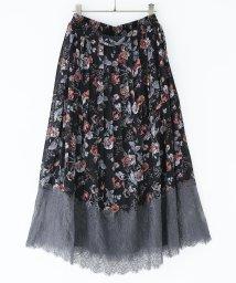 osharewalker/『somari裾レース切替花柄プリーツスカート』/502999766