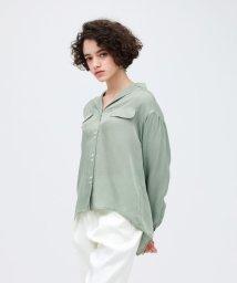 LOVELESS WOMEN/【予約販売】バックスリット オープンカラーシャツ/502890561