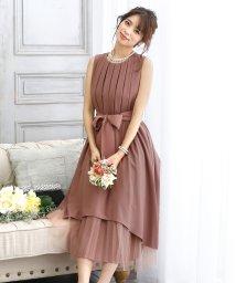 PourVous/プリーツ&チュール フィッシュテール ドレス/502920944