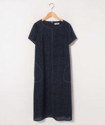 Leilian/デニム半袖ワンピ-ス/502949825