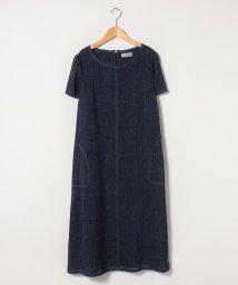 Leilian PLUS HOUSE/デニム半袖ワンピ-ス/502949950