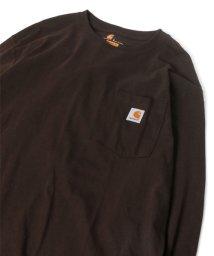 MARUKAWA/【Carhartt】カーハート USサイズ 無地 ポケット付き ピスネーム 長袖Tシャツ 春 ロンT/502963430