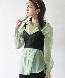 YUMETENBOU/オーバーサイズシアーシャツ/502982552
