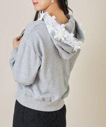 tocco closet/フラワーレース装飾パーカー/502991758