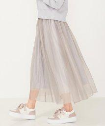 Feroux/【洗える】オパールシフォンレイヤード スカート/503000190