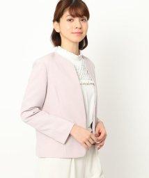 Couture Brooch/【ママスーツ/入学式 スーツ/卒業式 スーツ】カラーレスジャケット/503002820