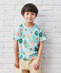 green label relaxing (Kids)/フルーツ総柄プリントTシャツ/503003044