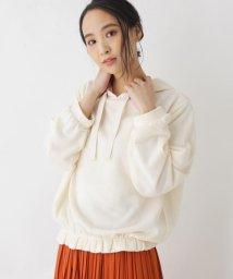 SHOO・LA・RUE Cutie Blonde/【M-L】フード付き裾フリルプルオーバー/503004813