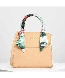 CHARLES & KEITH/スカーフラップド トップハンドルバッグ / Scarf Wrapped Top Handle Bag (Beige)/502008969