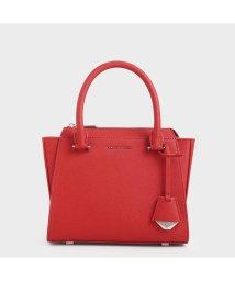 CHARLES & KEITH/ダブルトップハンドル トラペーズバッグ / Double Top Handle Trapeze Bag (Red)/502895318