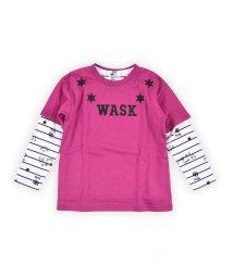 WASK/ワイドT&ロゴボーダーロンTセット(140cm~160cm)/502900891