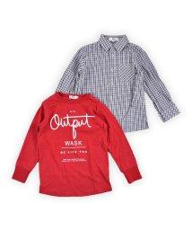 WASK/チェックシャツ&ロンTセット(110cm~130cm)/502900893