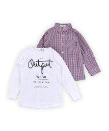 WASK/チェックシャツ&ロンTセット(140cm~160cm)/502900894