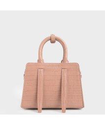 CHARLES & KEITH/【2020 SPRING 新作】クロックエフェクト ハンドバッグ / Croc-Effect Handbag (Blush)/502923033