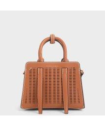 CHARLES & KEITH/【2020 SPRING 新作】クロックエフェクト ハンドバッグ / Croc-Effect Handbag (Cognac)/502923034
