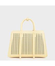 CHARLES & KEITH/【2020 SPRING 新作】クロックエフェクト ラージハンドバッグ / Croc-Effect Large Handbag (Yellow)/502923037