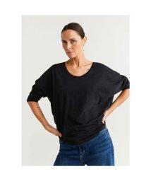 MANGO/Tシャツ .-- REVO (チャコール)/502925118