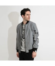 GUESS/ゲス GUESS REFLECTIVE CITY BOMBER JACKET (GLACIER GREY A935)/502942388