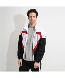 GUESS/ゲス GUESS SPORTY TRIANGLE LOGO WINDBREAKER (BLK/WHT/RED COMBO)/502943287