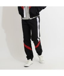 GUESS/ゲス GUESS SPORTY TECHNICAL NYLON TRACK PANT (BLK/WHT/RED COMBO)/502943288