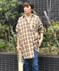LIPSTAR/バックボタンチェックチュニックシャツ/502959947