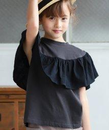 pairmanon/ガールズ リネンタッチ フリル ドッキング 半袖 Tシャツ カットソー/502962227