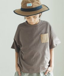 pairmanon/ユニセックス 異素材 ポケット付き ワイド シルエット 半袖 Tシャツ カットソー/502962257
