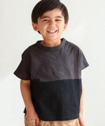 pairmanon/ユニセックス バイカラー ロゴプリント 切り替え 半袖 Tシャツ カットソー/502962258